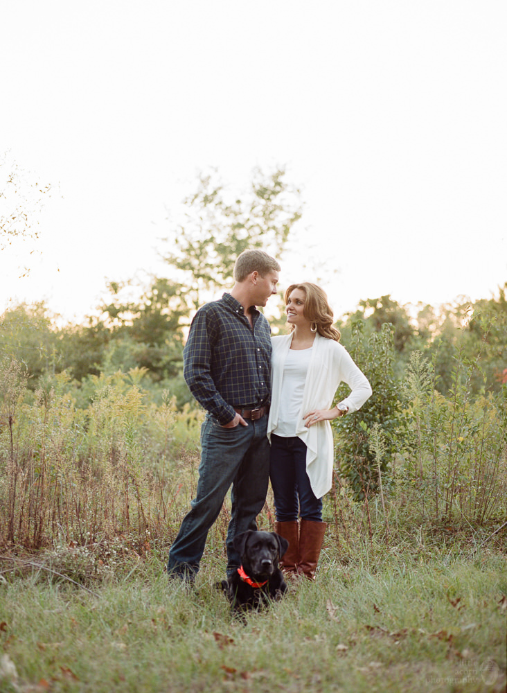 Photographs from Talyia & Jacob's Auburn, AL engagement portrait session by Alabama wedding photographers Little Acorn Photography (Luke & Jackie Lucas).