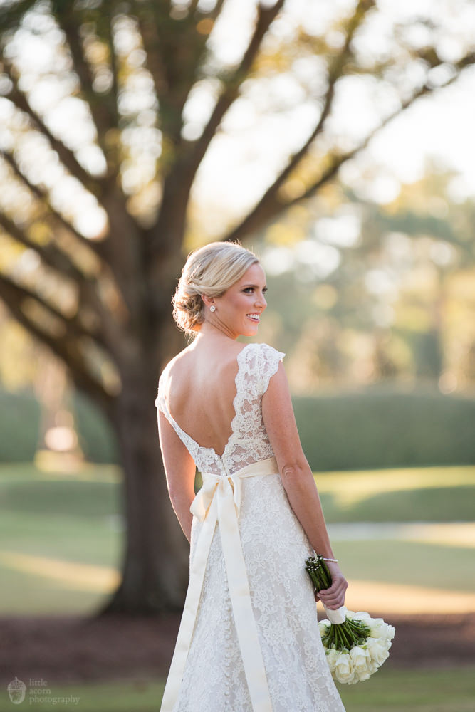 Photos of Emily Pickett's bridal portrait session at the Montgomery Country Club by Alabama wedding photographers Little Acorn Photography (Luke & Jackie Lucas).