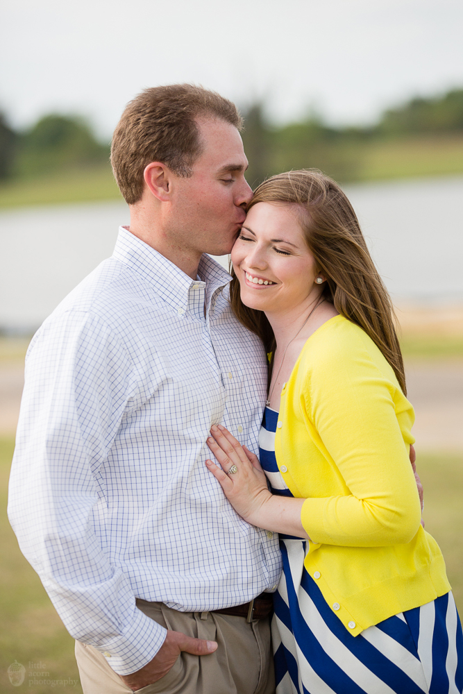 Photographs from Whitney & Lance's engagement portrait session The Waters in Pike Road, AL by wedding photographers Little Acorn Photography (Luke & Jackie Lucas).