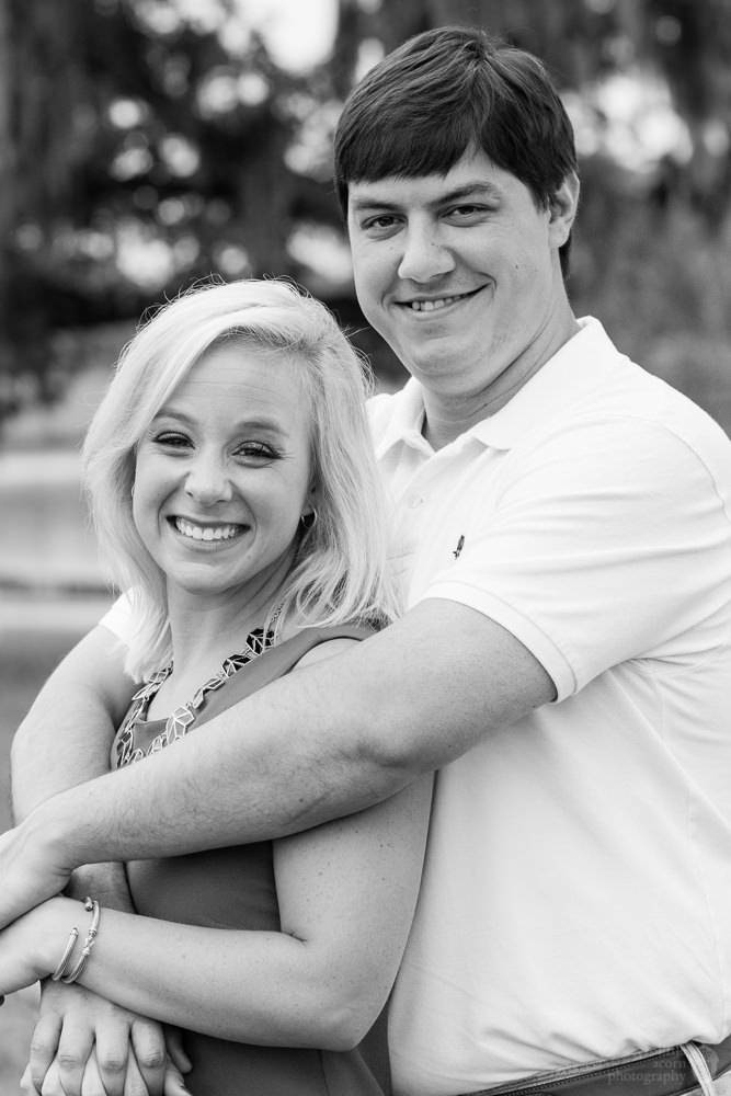 Photographs from Emily & Brandon's engagement portrait session at The Waters by Alabama wedding photographers Little Acorn Photography (Luke & Jackie Lucas).