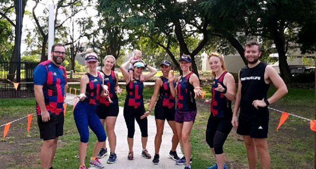 The Temptresses rocking it out with their body guards . . . . . #BTC #brisbanetriclub #trilife #swimbikerun #triathlon #brisbaneanyday #running #zeroathletic #brisbane #morningrun #ironman #training #playground #trilife #healthylife #fitnessforlife #fitforlife #chicksthatrun #garmin #tristuds #trichicks #queensland #australia #WYMTM #visitbrisbane