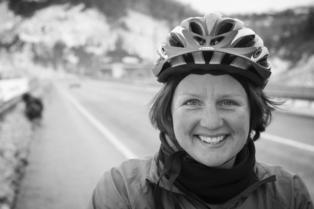 LAURA MOSS Laura has run along all the tube lines in London and now works as a solicitor in Leeds. She continues to adventure all over the world and at home. She also happens to have ridden round the world. Laura organises the annual Cycle Touring Festival.
