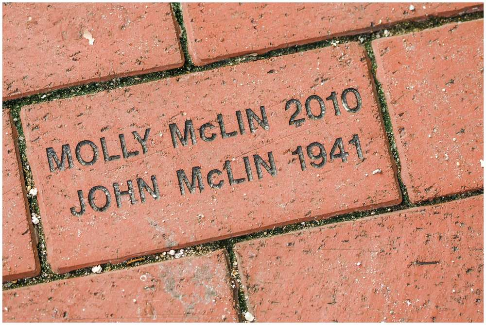 This is a brick at Molly's High School where she graduated with her name and her Grandfather's name. I had to grab a picture for the memory!