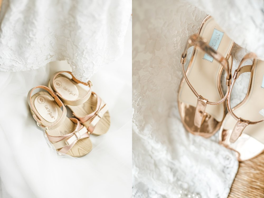 How sweet are Capriana's little shoes? LOVE the Rose Gold.