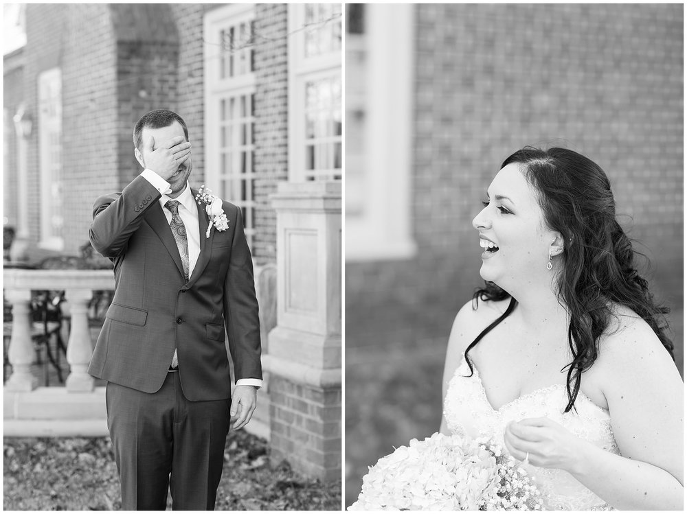 Cue ALL the tears for Stacie and Josh's First Look! I had to share these in Black and White for all the emotions!