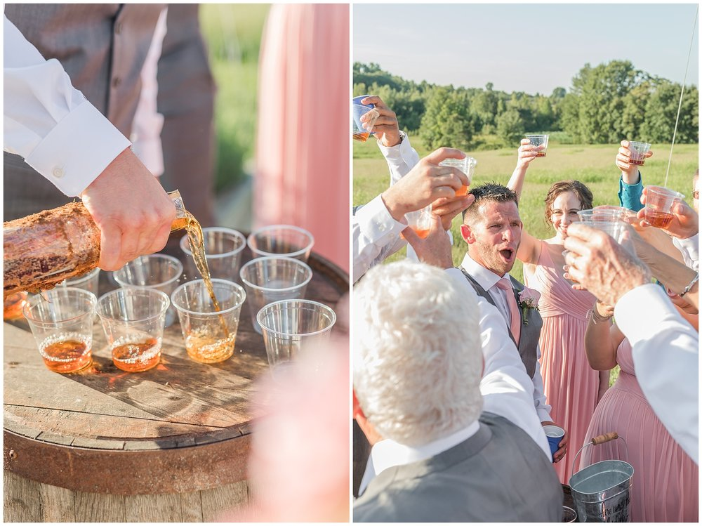 Derek insisted Hunter share a glass with them as they celebrated with their loved ones! Hunter's favorite bourbon is Woodford so he certainly was happy to do so ha ha! :)