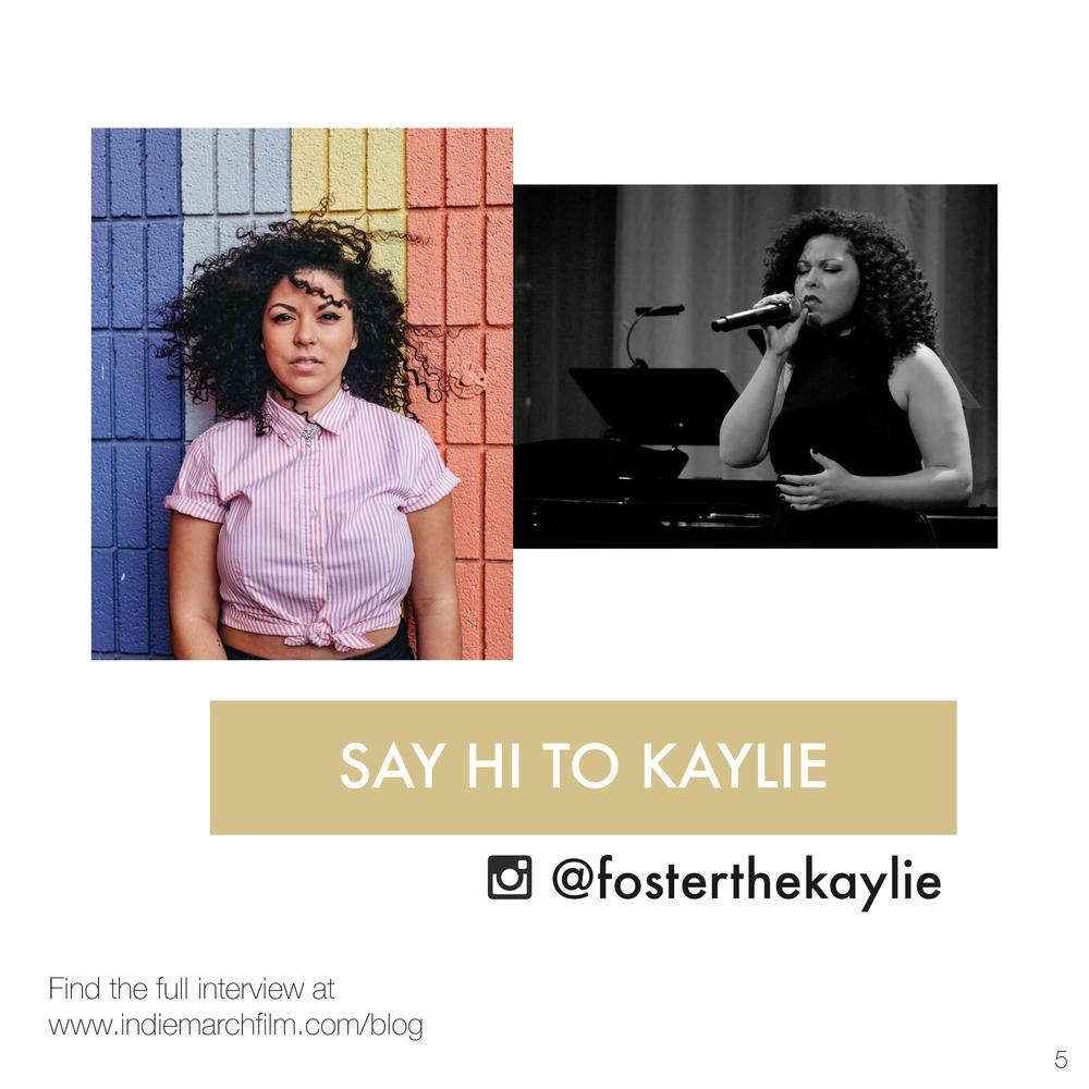 Kaylie Foster, Indiemarch Film
