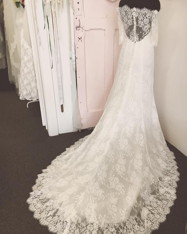 Style Name: Eugenia , Style No. MI029 Now Available at The Vintage Bride Boutique Adelaide. Book an appointment now, with Rene, to try it on!