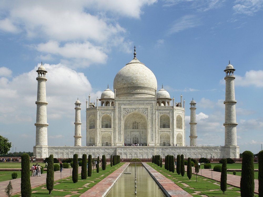 Khurram the Moghul King of the World with his wife Mumtaz ruled India, but when she died he built the Taj Mahal. In 1658 when Aurangzeb took his father's throne, he enforced shari'ah law, and then expanded India south while England built a trade center in the Eastern city: Calcutta.