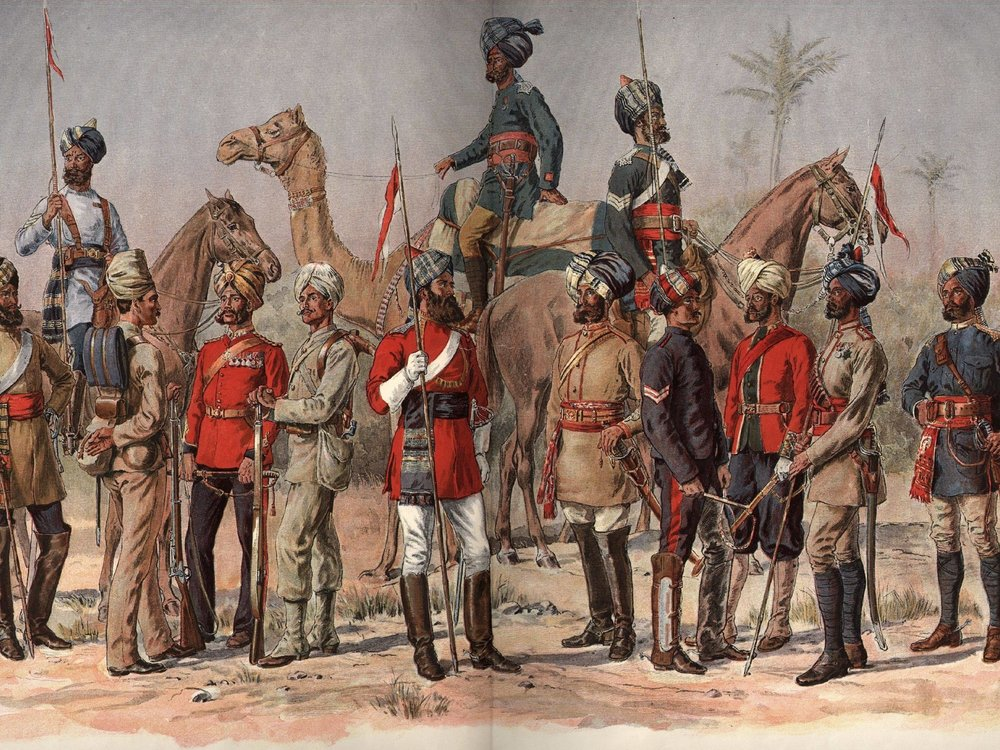 Aurangzeb's successors spent India's money, then the Persians looted Delhi. British East India Company with their army colonized India 1818.