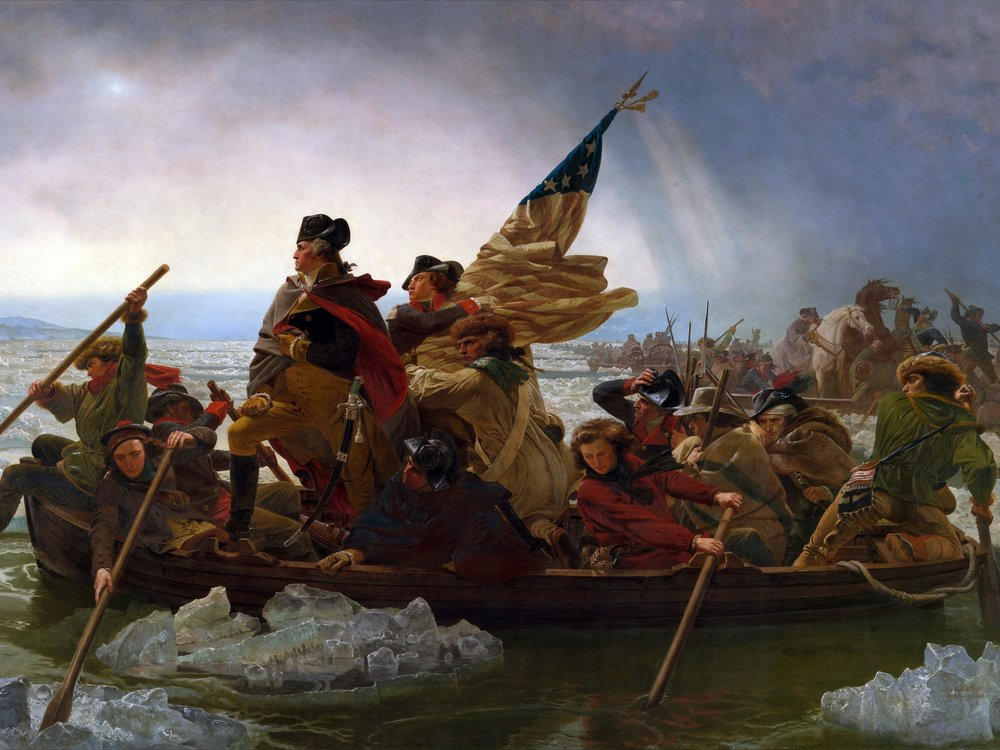 American colonists revolted against Parliament's Acts of taxes. George Washington commanded the Minutement who fought the British Red Coats. Jefferson penned the Declaration of Independence in '76. Troops from France, Spain & the Netherlands helped the colonies win their freedom.