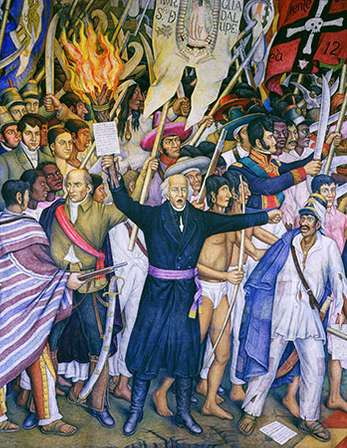Miguel Hidalgo preached the Cry of Dolores which sparked the New Spain army. In 1810 they captured the city of Guanajuanto. They became a mob, so he retreated to be captured by Spanish forces. Later Iturbide, a creole, won Mexico's independence. Texians declared their independence and named Sam Houston their general. They defended the Alamo Mission but lost in 1836. Then the Texians captured Santa Anna and became the Republic of Texas.