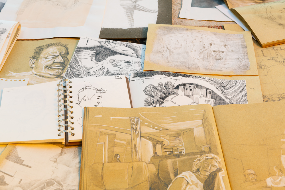 open sketchbooks