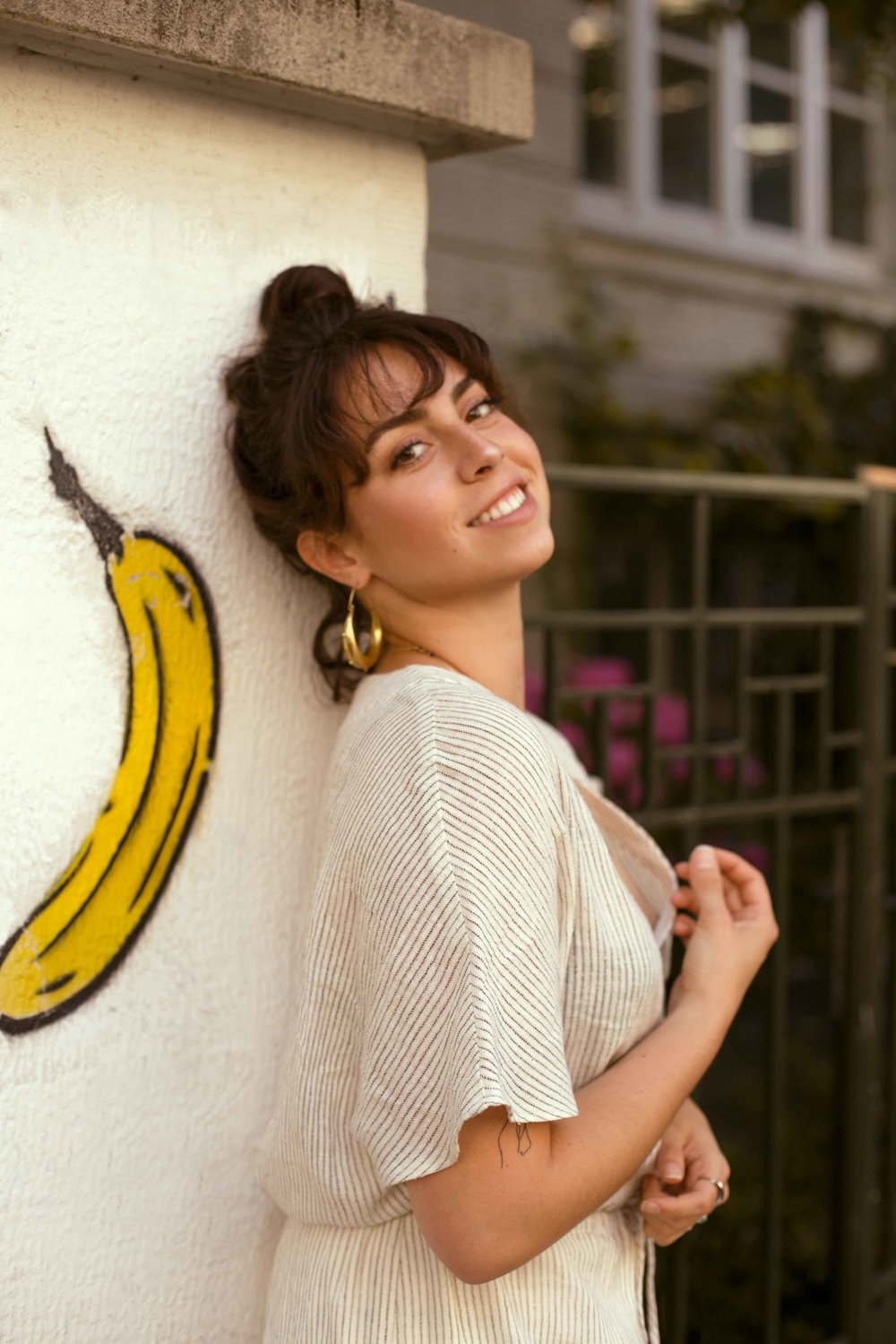 All across the city you can find this banana graffited on walls, buildings, fences. It's become a cultural icon of sorts.