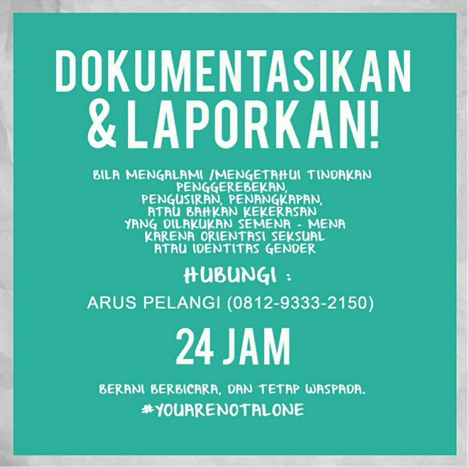 #YouAreNotAlone by Arus Pelangi
