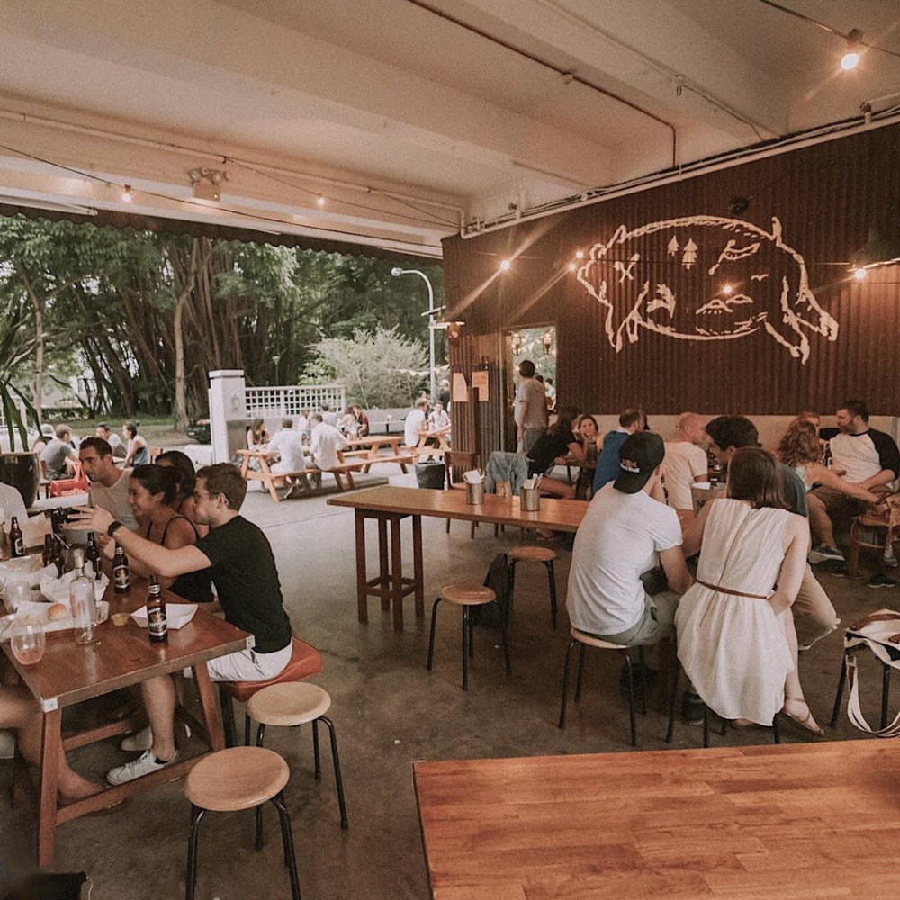 The 120-seater eatery is all open air seats, a garden bar, a DJ booth and a self-made spit.