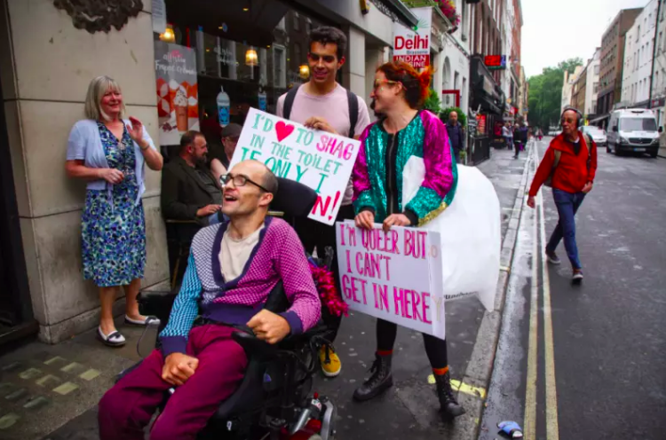 Establishments such as nightclubs are often held as inclusive, safe spaces for disadvantaged groups, but are these places welcoming to  all  communities? (Image: Queer Tours of London)