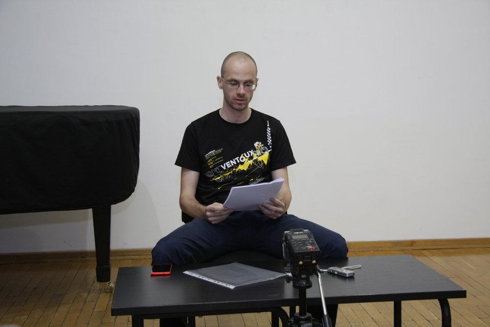 Nemanja Mitrović Predavanje O zaboravu nepamtljivog 11 jun 2015 KCB (2).JPG