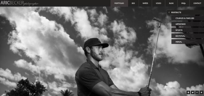 Golfer Jordan Rodgers, shot by Aric Becker on Maui in April, 2016.