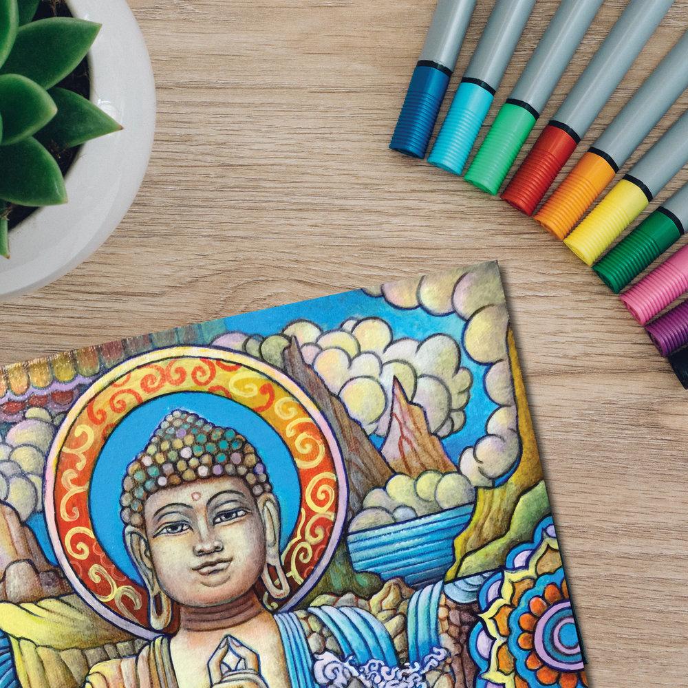 color me buddha cover.