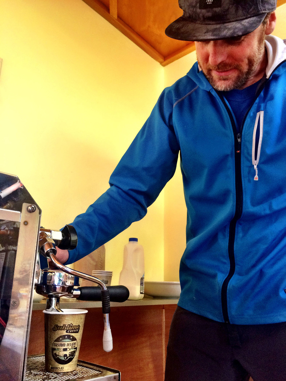 Getting the trail builders stoked up in the morning with  Sublime Coffee