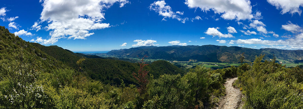 View down into the Takaka valley