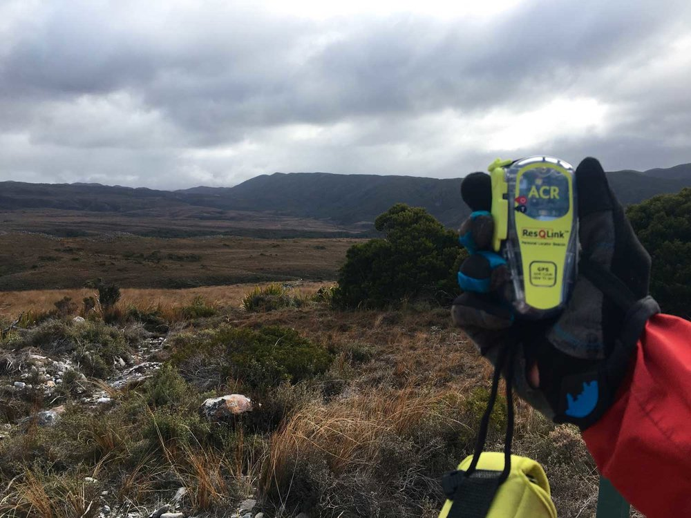 Like a lot of back country trails around NZ, the landscape gets pretty rugged quickly and with limited cell phone coverage make packing one of these  ResQLinks PLB's from Sardynamics  a no brainer.