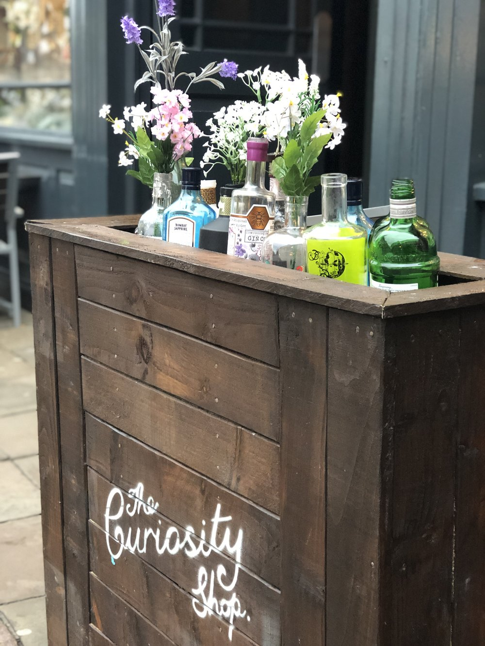 Gin bar, The Curiosity Shop, is a five minute stroll from The Lincoln House