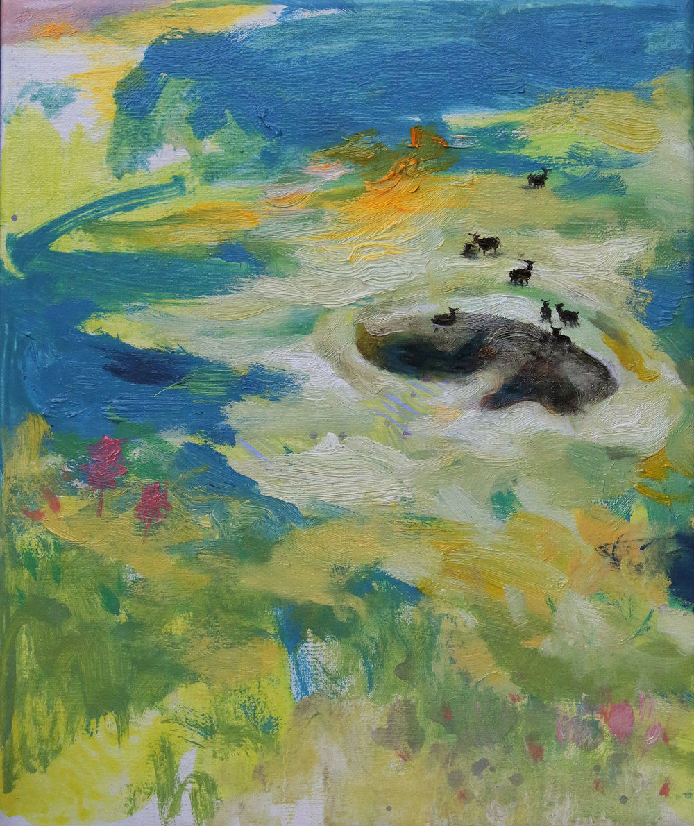 Black Pool 30x25cm s Oil on Canvas 2015 .jpg