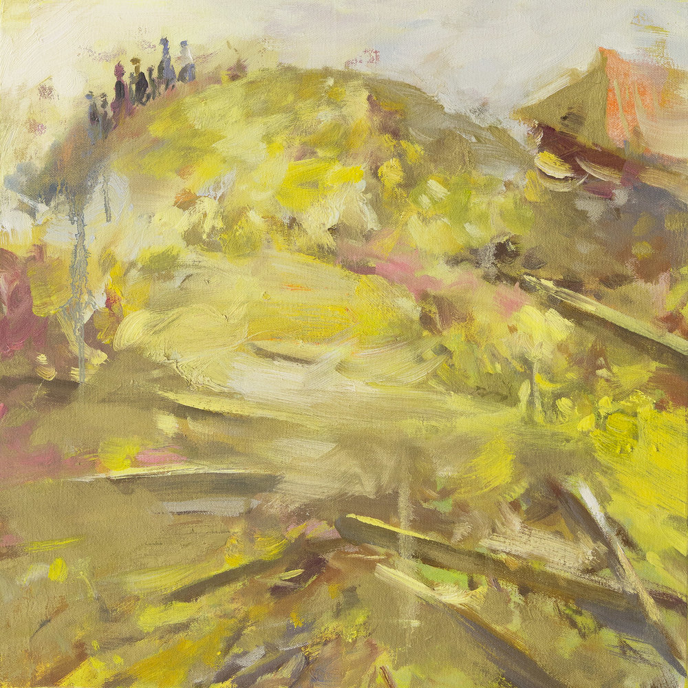 Treasure Land1 (gold)  50x50cm 2015 oil on canvas.jpg