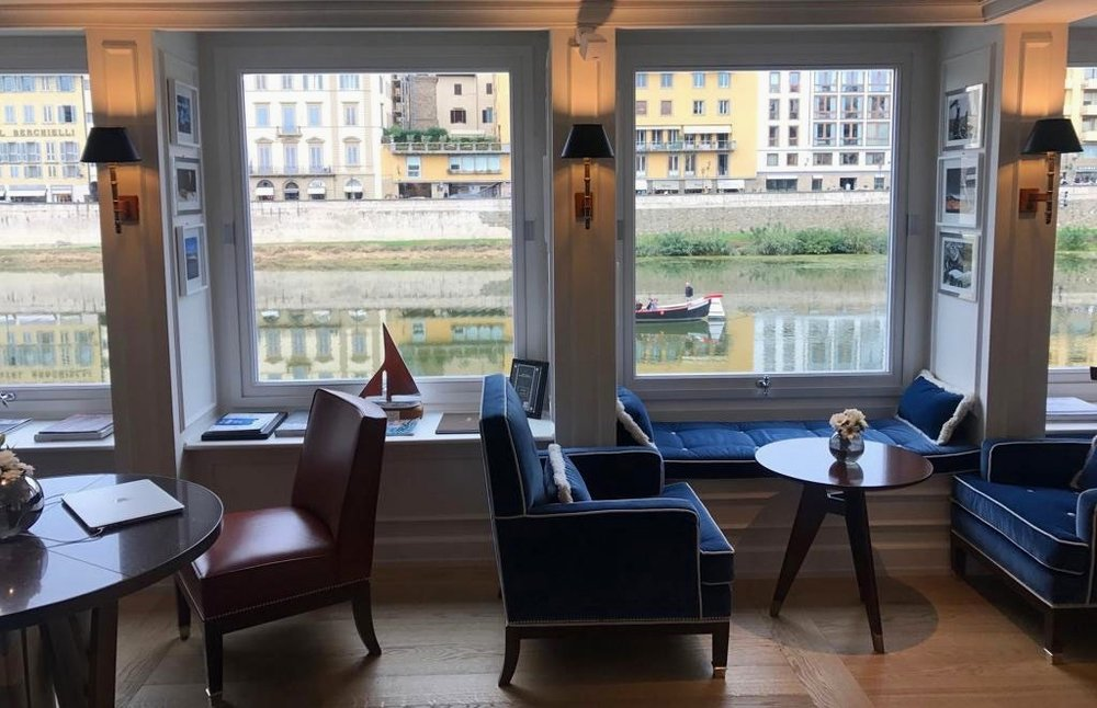 The best spot to go for a coffee at sunset over the Ponte Vecchio or for a drink before dinner is at the Picteau Bar at the Lungarno Hotel, best Negroni in town!!