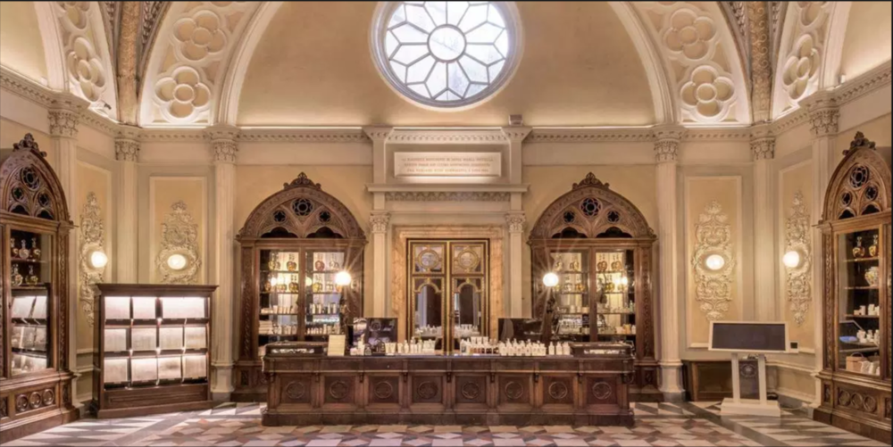Santa Maria Novella is the oldest pharmacy in the world.  Here you will find  beautiful and unique fragrances & homeopathic remedies.