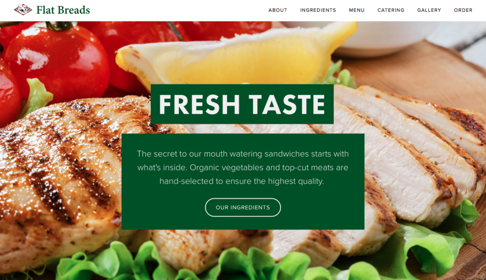 Squarespace Design | Flat Breads online