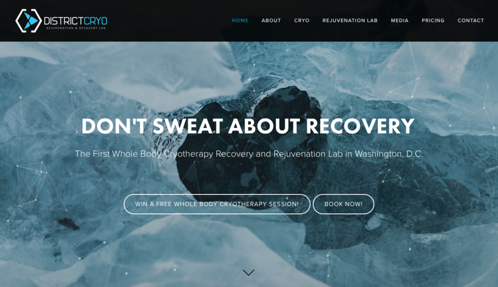 Squarespace Design | District Cryo