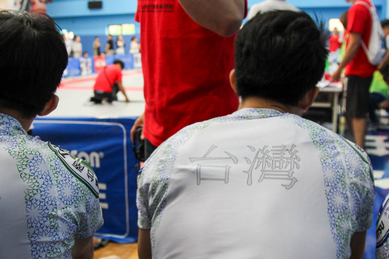 A lot of competitors came from the same school: Danimal BJJ in Tainan and Kaohsiung. They all wore matching rash guards.