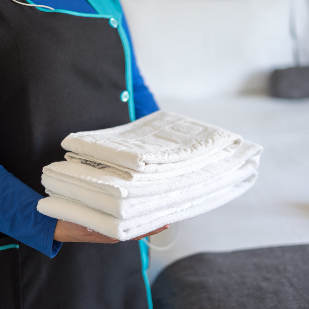 Anytime that you need, upon request, we can send our Housekeeping team to fresh up your apartment!