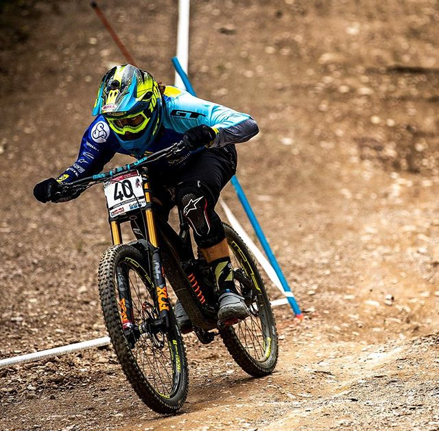 Nearly time to go racing again, Wheelie'n even when I don't mean too 😂 📸 @svenmartinphoto 🤘🏼🤘🏼@gtbicycles @dewalttough  @ride100percent @rideshimano @schwalbetires @fox #ridefox @extremeofficial @sombriocartel @raceface604 @stansnotubes #downhill #ucimtbworldcup