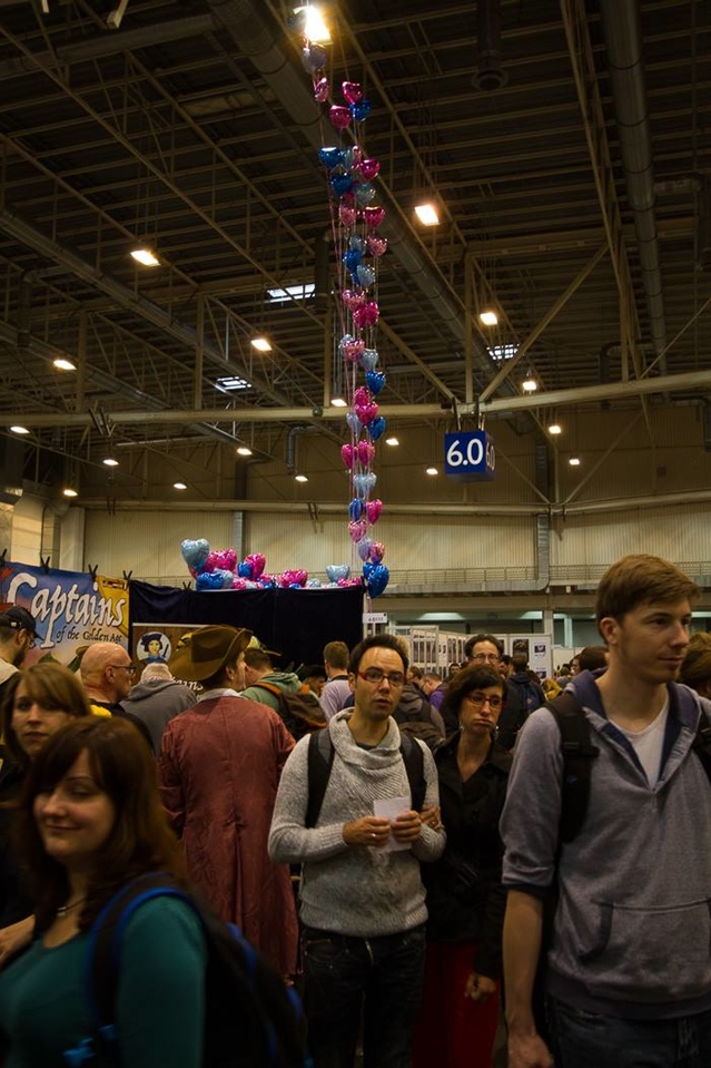 Our booth at a distance (photo taken by our friend Bo Jørgensen)