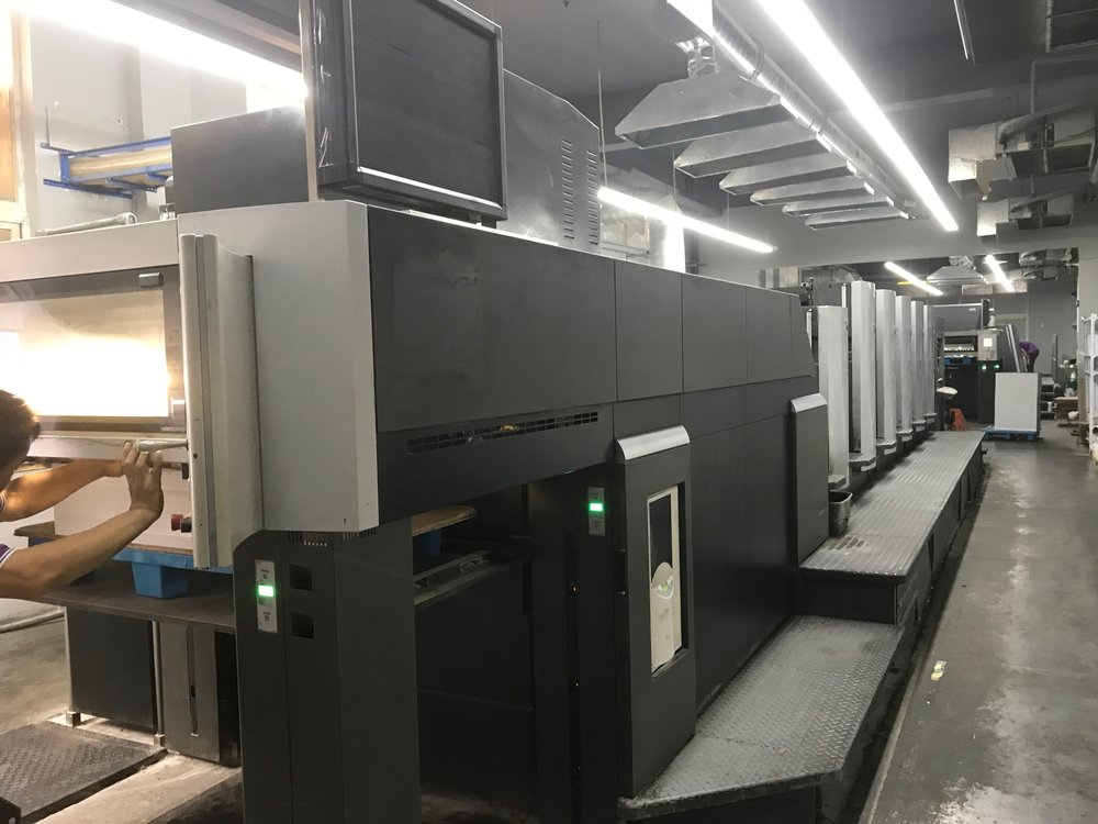 A huge 5 colour printing machine