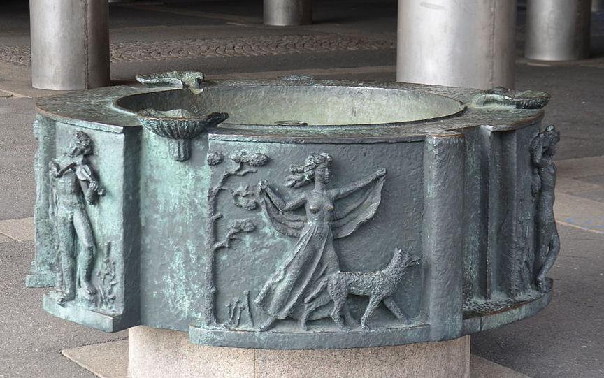 Eric Grates fontänkar på tidigare Katarina realskola, Stockholm