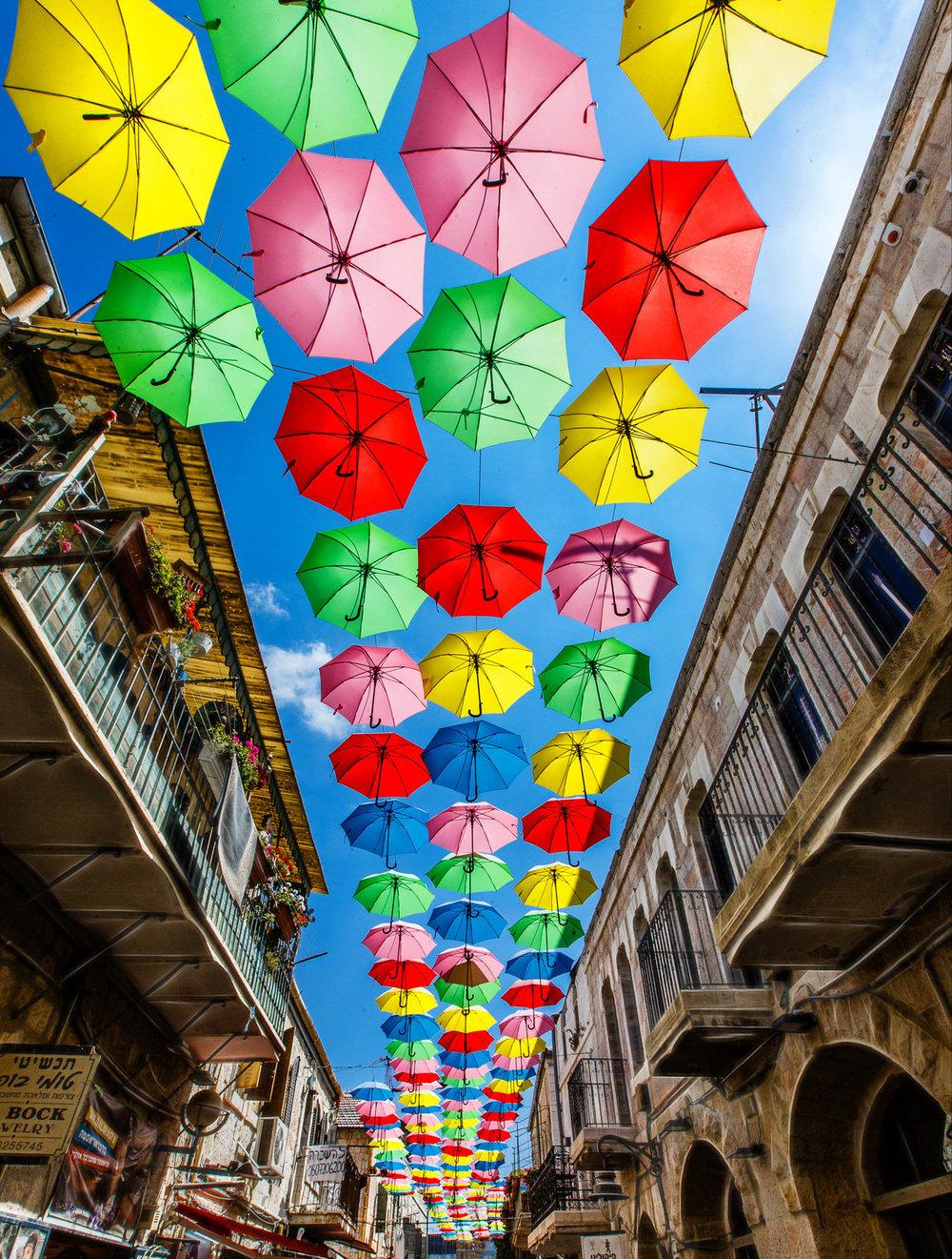 Jerusalem Umbrellas