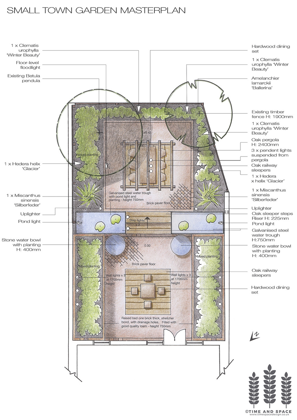 Portfolio time and space garden and planting design york for Garden design york uk