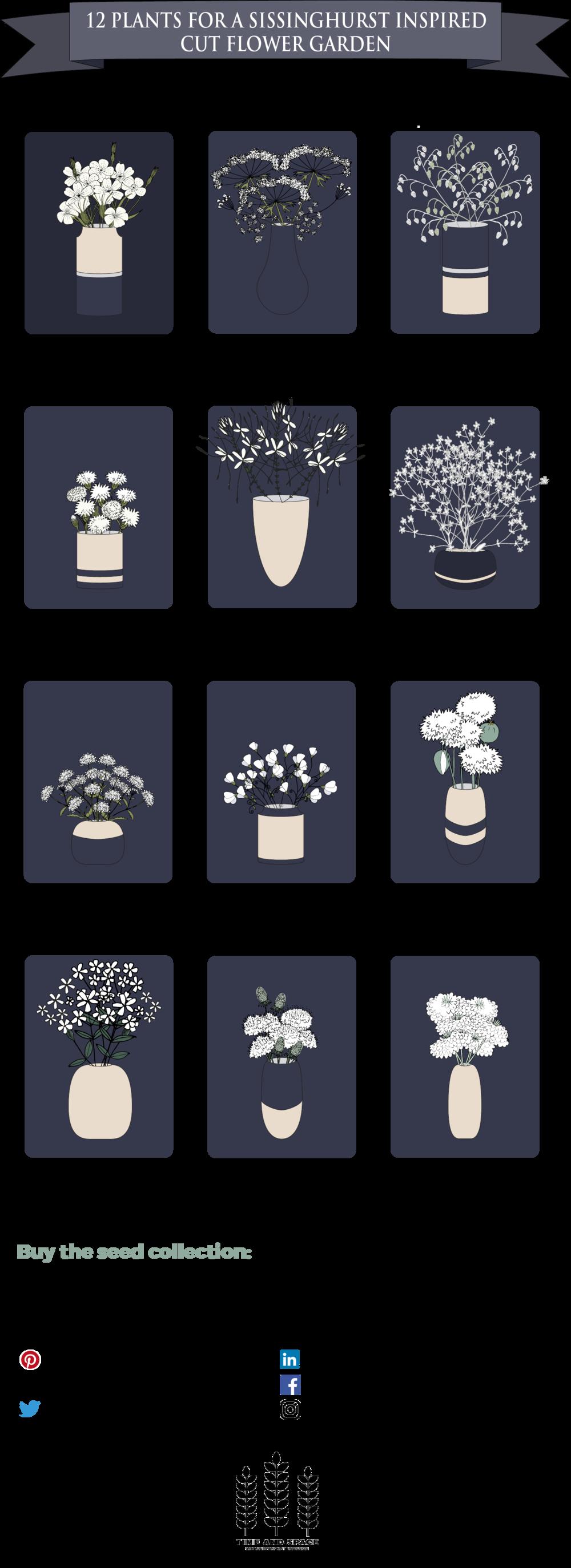 12 Plants for a Sissinghurst Inspired Cut Flower Garden