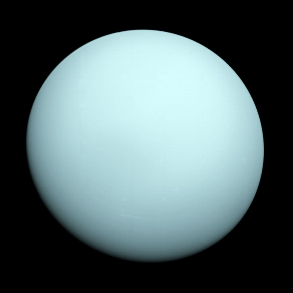 The biggest picture of Uranus I've ever seen…  By NASA/JPL-Caltech - https://web.archive.org/web/20090119235457/http://planetquest.jpl.nasa.gov/milestones_show/slide1.html (image link)http://photojournal.jpl.nasa.gov/catalog/PIA18182 (image link), Public Domain, https://commons.wikimedia.org/w/index.php?curid=5649239