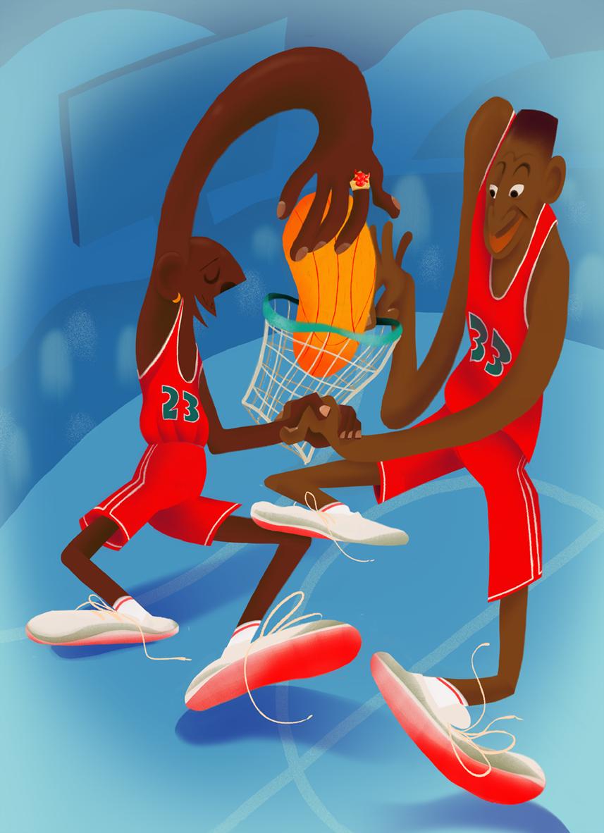 Famous Friends: Pippen & Jordan