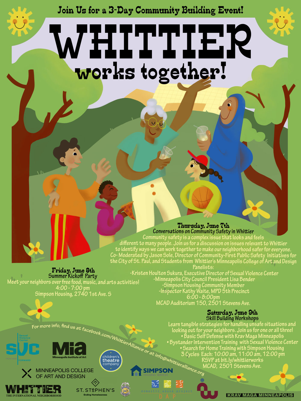 Whittier Works Together Poster