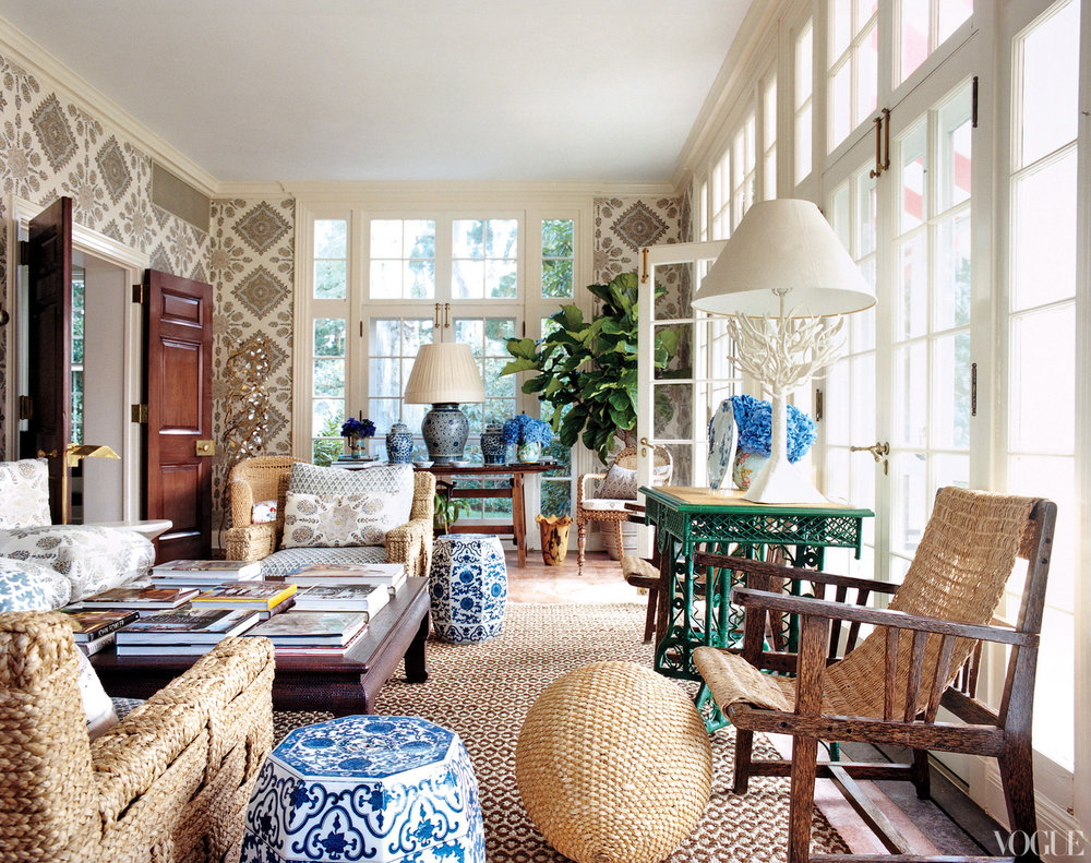 image of Tory Burch's Southampton home