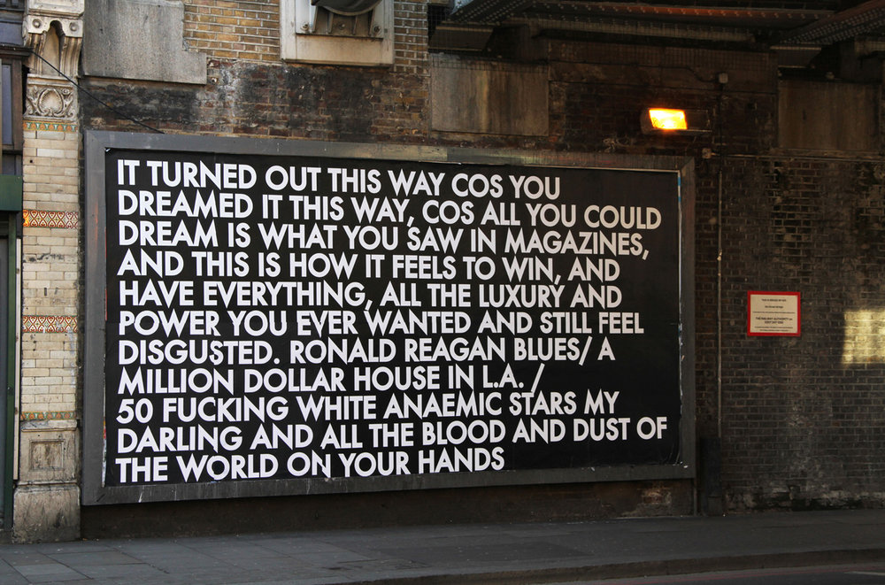 Old Street Billboard 1, 2012.