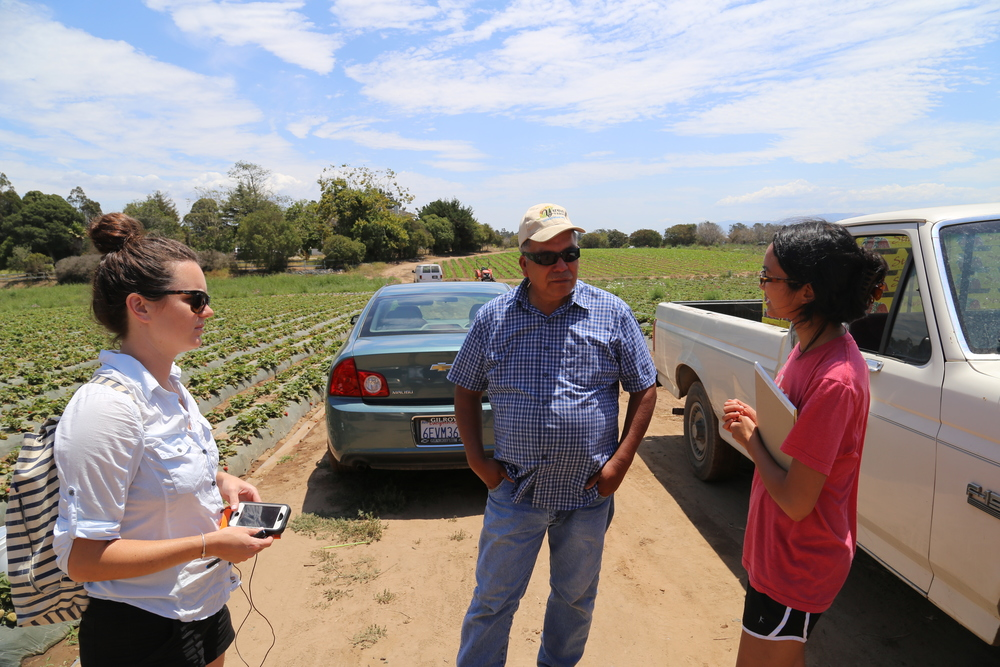 Sarah & Maria interview Poli at Yerena Farms