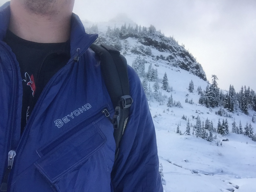 The Beyond Alpha keeping me warm on a cold winter hike